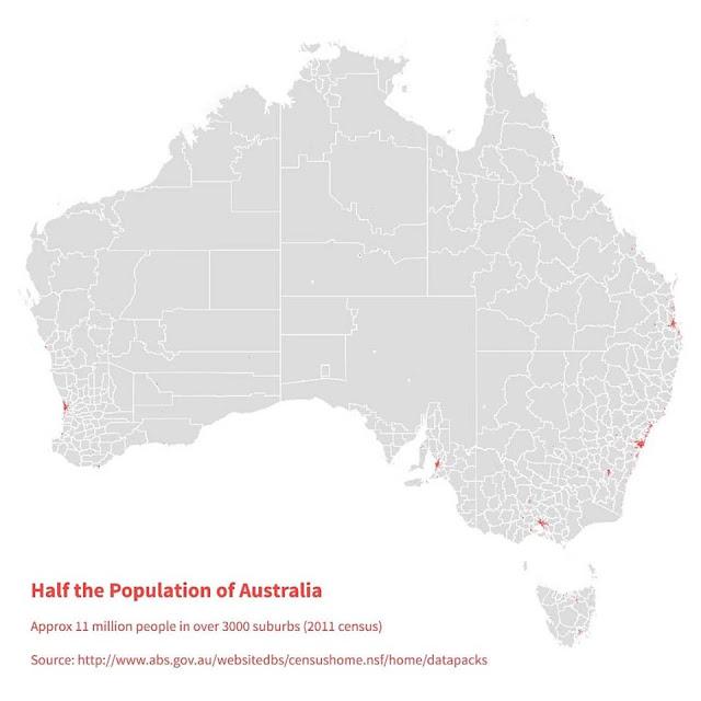 Rozmieszczenie ludności - Australia
