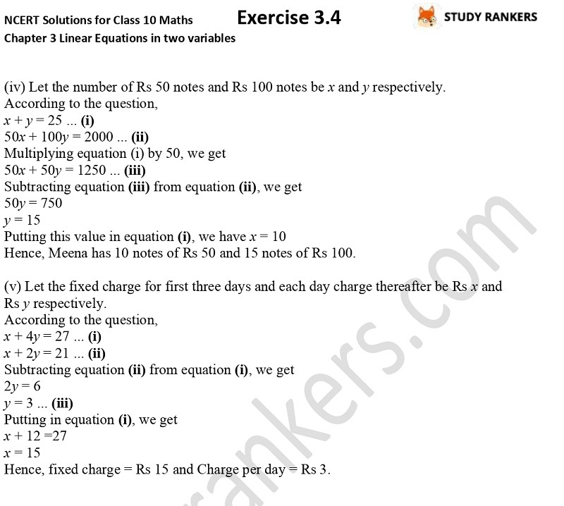 NCERT Solutions for Class 10 Maths Chapter 3 Pair of Linear Equations in Two Variables Exercise 3.4 Part 2NCERT Solutions for Class 10 Maths Chapter 3 Pair of Linear Equations in Two Variables Exercise 3.4 Part 6