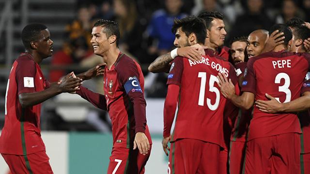 [Video] Cuplikan Gol Faroe 0-6 Portugal (Kualifikasi Piala Dunia 2018)