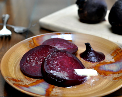 King Hill Farms Simple & Sublime Beets ♥ AVeggieVenture.com, my favorite way to truly savor the first just-roasted, still-hot beet. Low Carb. WW1.