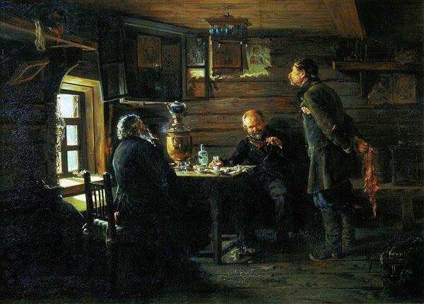 Маковский Владимир Егорович - Любители соловьев. 1873
