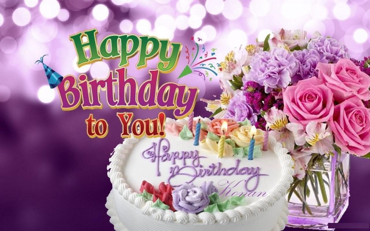 Birthday Cake Flowers Wishes Love