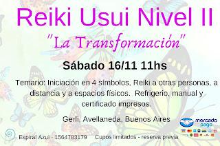 Invitacion Reiki II 16 de Noviembre de 2019