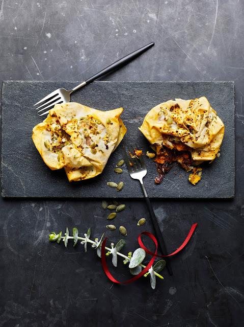 VEGAN BUTTERNUT & BEETROOT FILO PARCELS - new vegan Christmas dish from M&S Food
