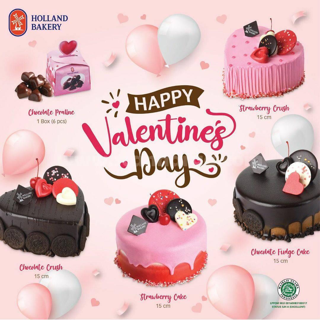 Holland Bakery Paket Cake Valentine's Day! harga spesial mulai Rp 20 Ribu-an