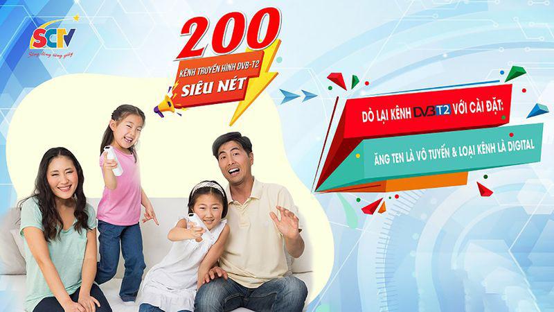Dịch vụ Truyền hình SCTV tại Hà Nội