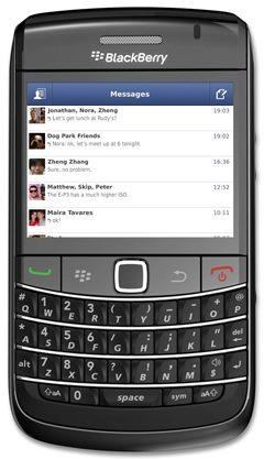 Facebook Messenger v1 5 for BlackBerry - free facebook chat