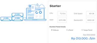 Cloud VPS Hosting Niagahoster Paket Starter