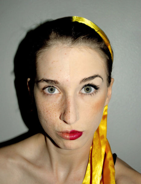 Comparativo de mulheres antes e depois de serem maquiadas