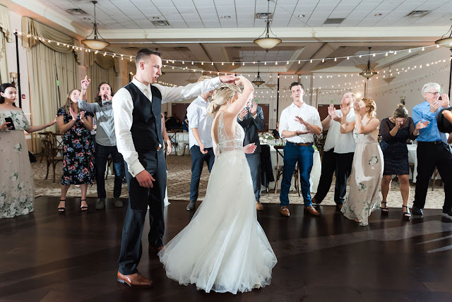 bride dancing at reception in lake mary events center