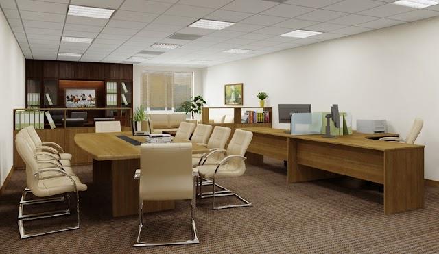 Văn phòng nhỏ gọn đầy đủ công năng kèm model 3D download