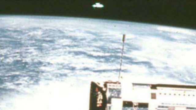 The photo that Donna Hare claims has a UFO in it.