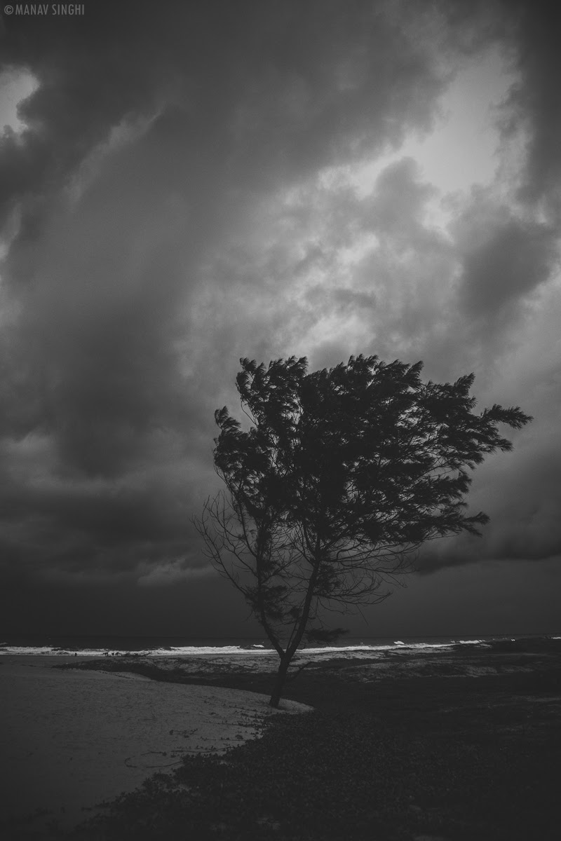 Storm Time shot taken at the Beach in front of  Le Pondy Beach Resort, Pondicherry - 29-Oct-2019