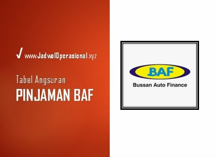 Tabel Angsuran Pinjaman BAF