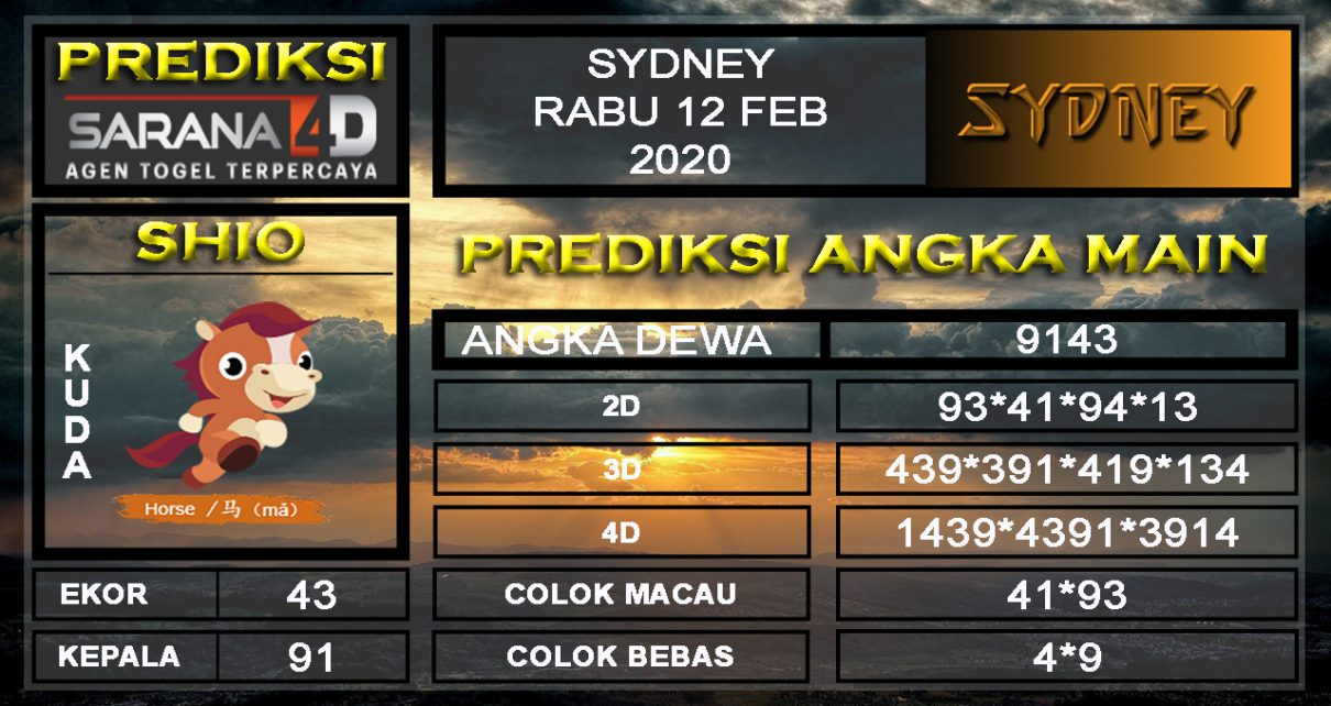 Prediksi Togel Sidney Sabtu 08 Februari 2020 - Prediksi Angka Main