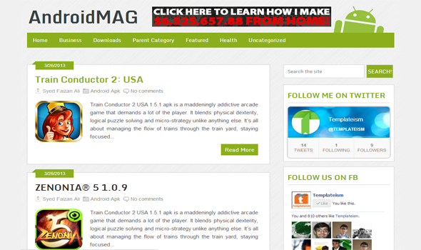 Free AndroidMag Blogger Template
