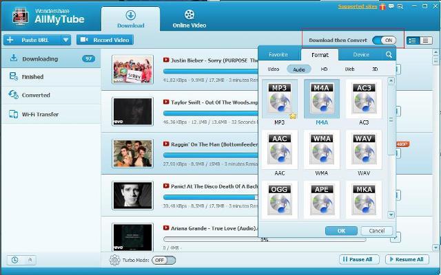 Descargar Wondershare AllMyTube Mega y Mediafire