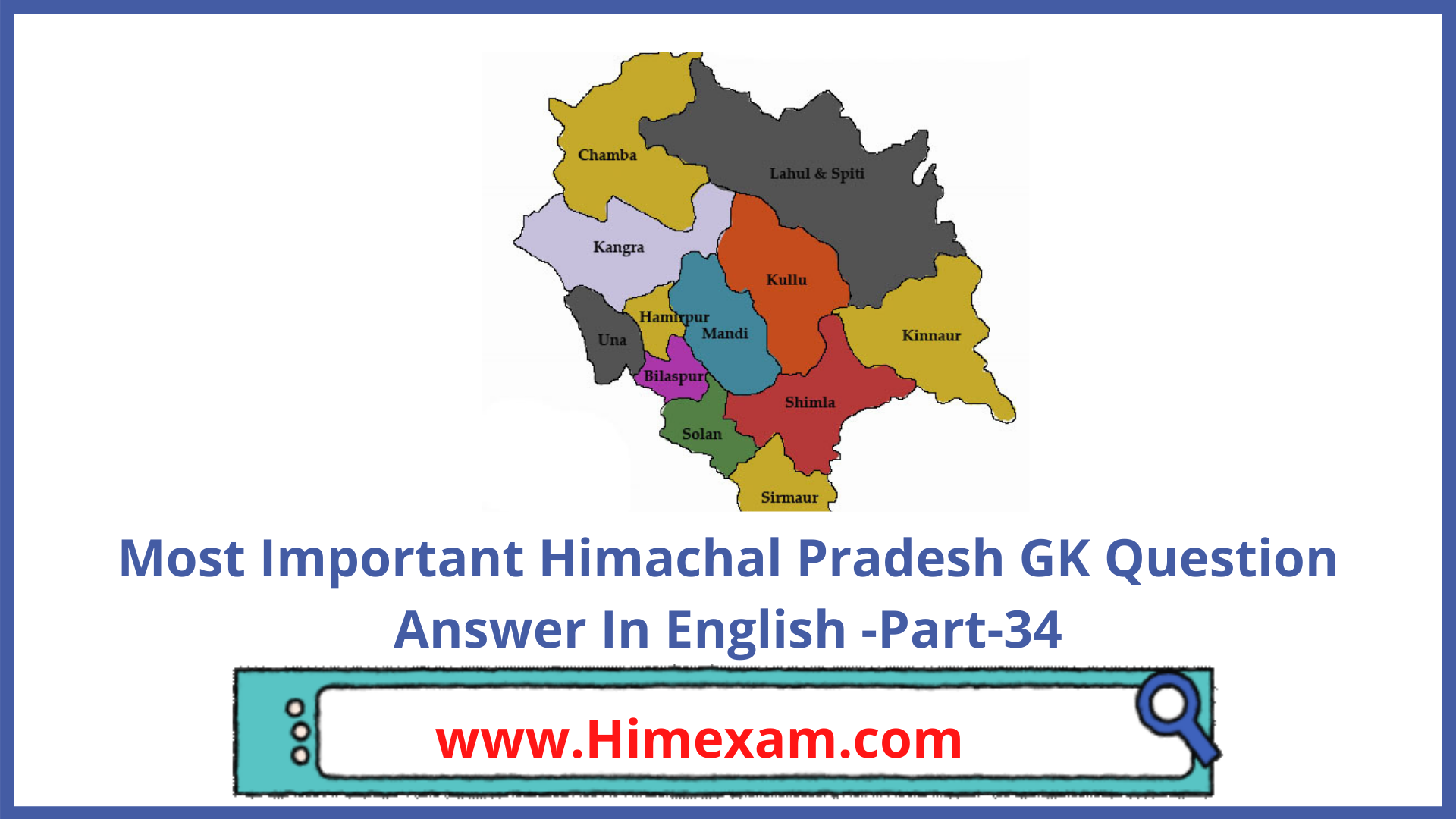 Most Important Himachal Pradesh GK Question Answer In English -Part-34