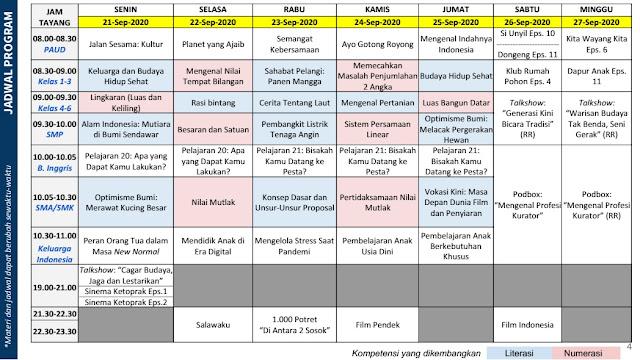 jadwal program belajar dari rumah br tvri 21 22 23 24 25 26 27 September 2020 tomatalikuang.com