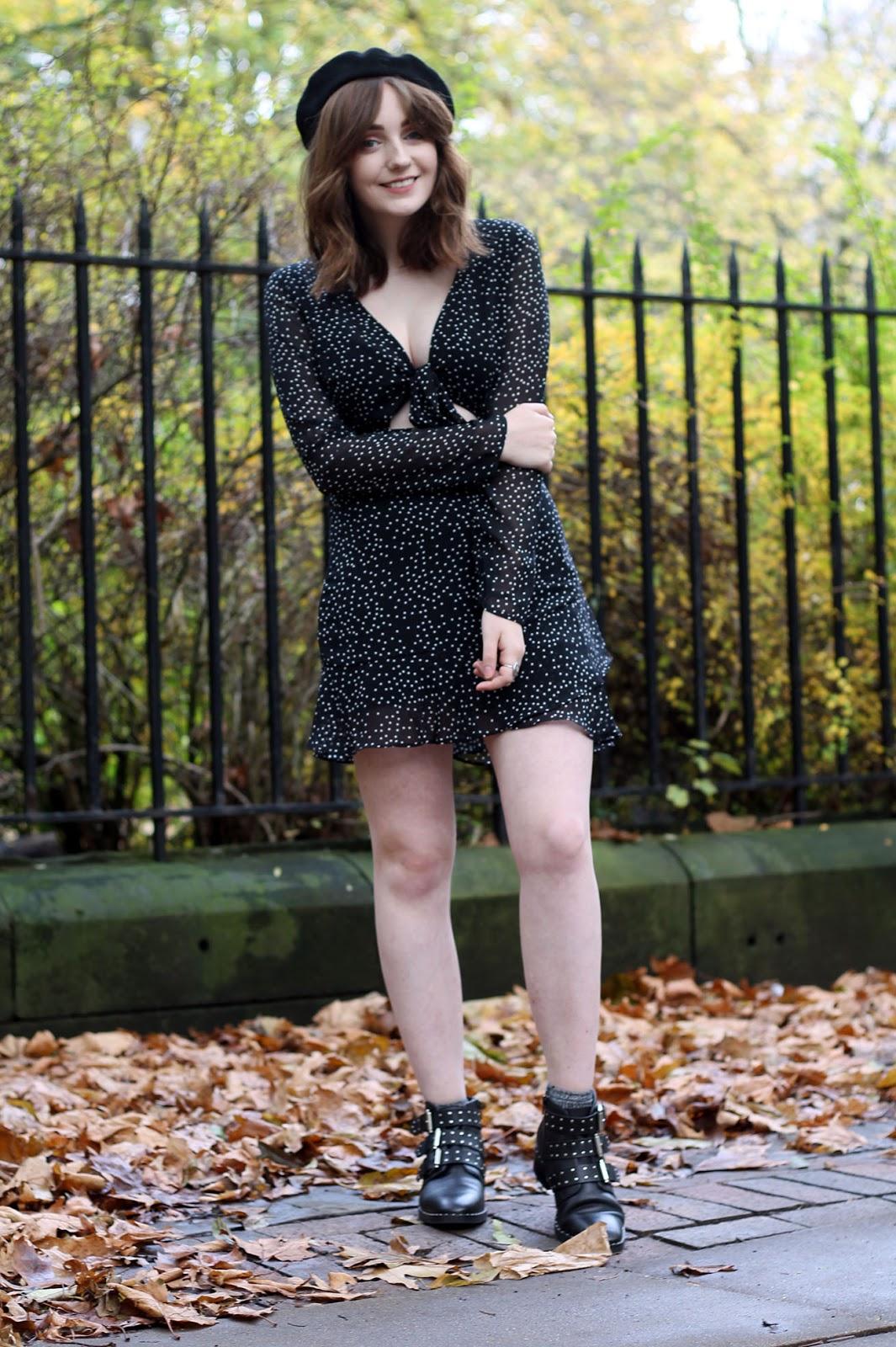 Liverpool fashion blog with Tobi bowie dress