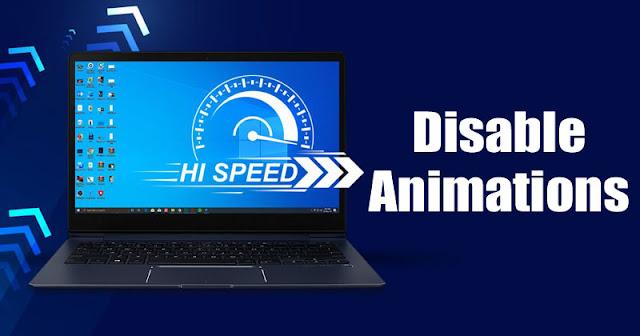 Cara Menonaktifkan Animasi Windows 10 | Agar Tidak Lag