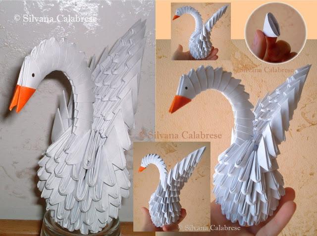Origami 3D. Swan