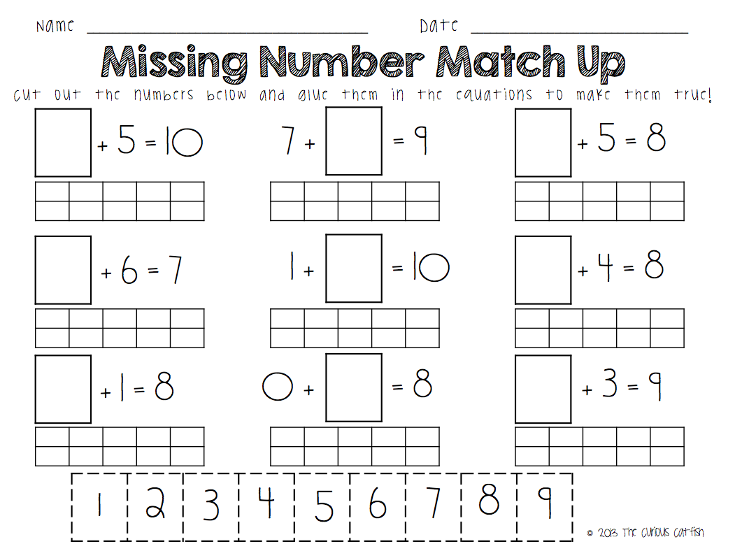 Missing Addend Word Problems First Grade Worksheets Miss