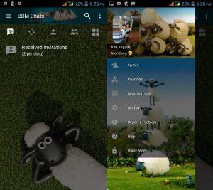 BBM MOD Tema Shaun The Sheep v3.3.0.16 APK Versi Terbaru