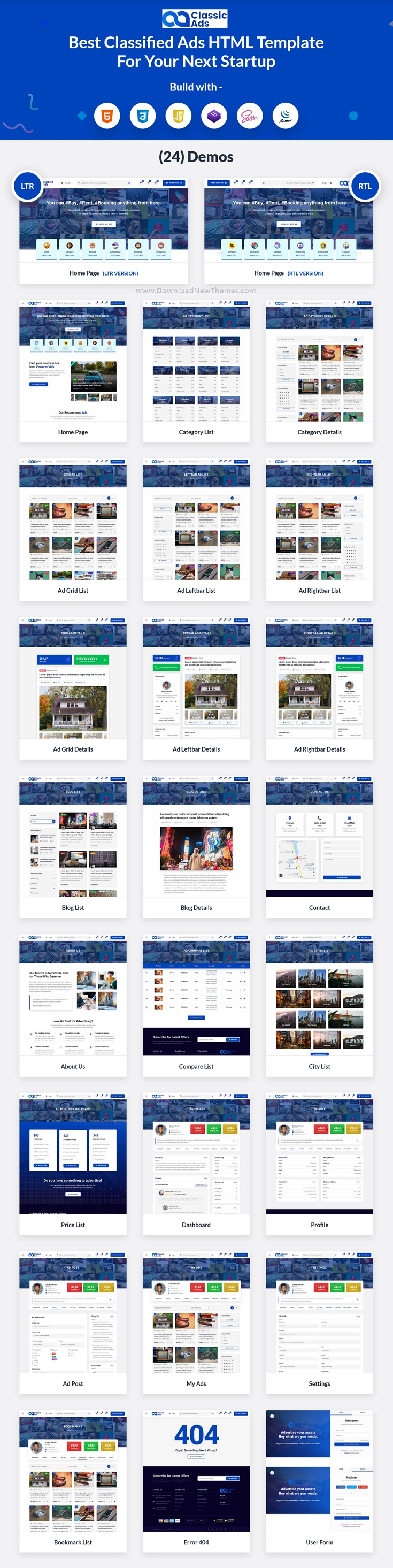 Classified Ads Bootstrap Template