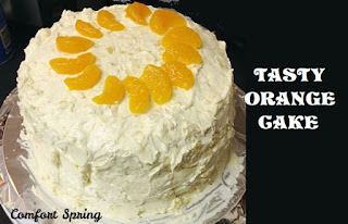 Tasty Orange Cake, One of my favorites this week at Encouraging Hearts and Home, link-up your creations, right here at Scratch Made Food! & DIY Homemade Household!