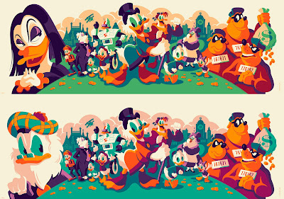 DuckTales Screen Print by Tom Whalen x Cyclops Print Works x Gallery Nucleus x Disney