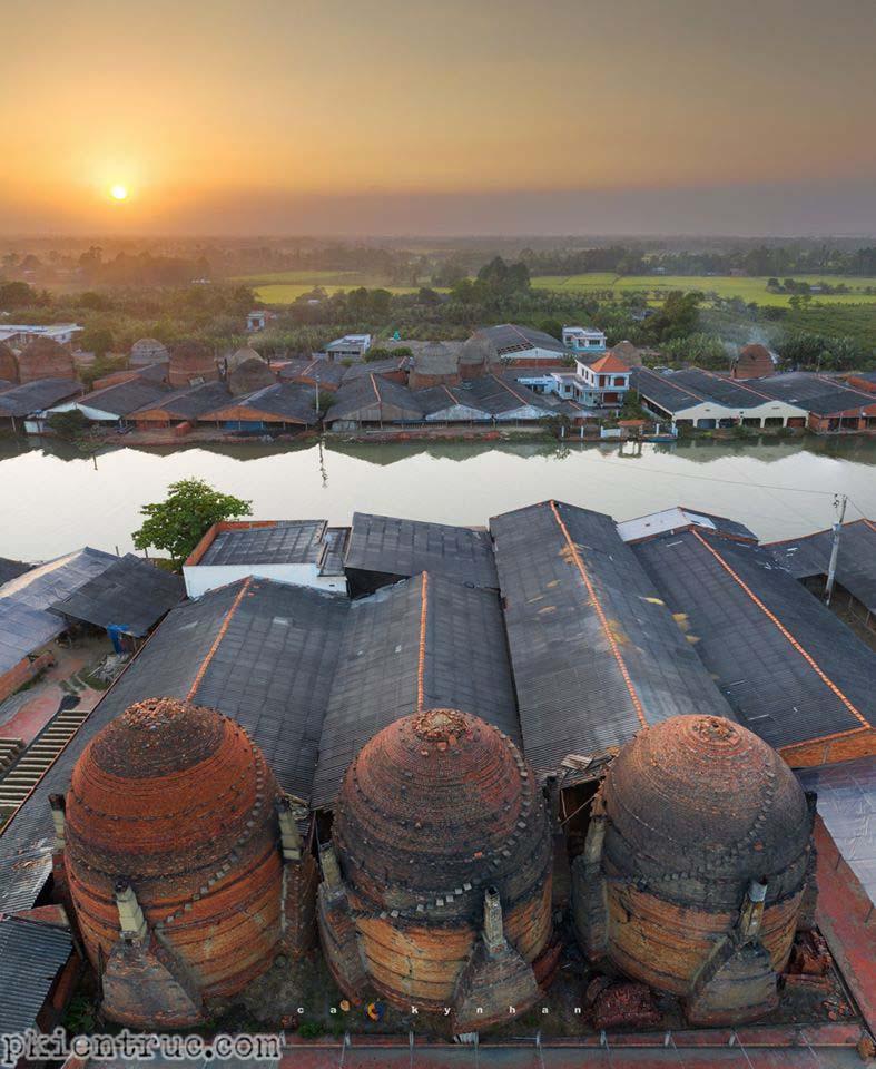 Ảnh chụp làng gốm Vĩnh Long trên cao- ảnh 2