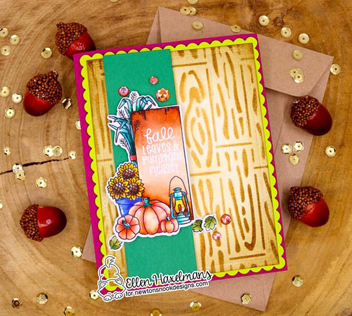 #newtonsnook #newtonsnookdesigns #handmadecard #cardmaking #stamping #fallcard #nnd #card #cardmaking #handmade #stampset #dieset #paperart #hobby #drawing #dutchcardmaker #watercolors #zigcleancolorrealbrush #zigcoloring #SignsofFallDieSet #HardwoodStencil