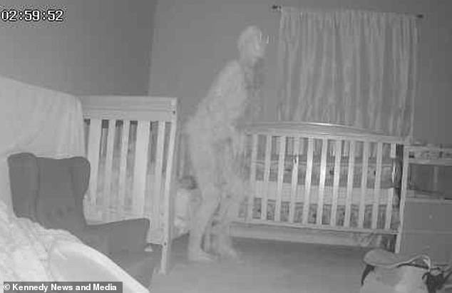 Grandma begs for help after seeing 'demon' caught on camera standing over her grandchild bed (photos)