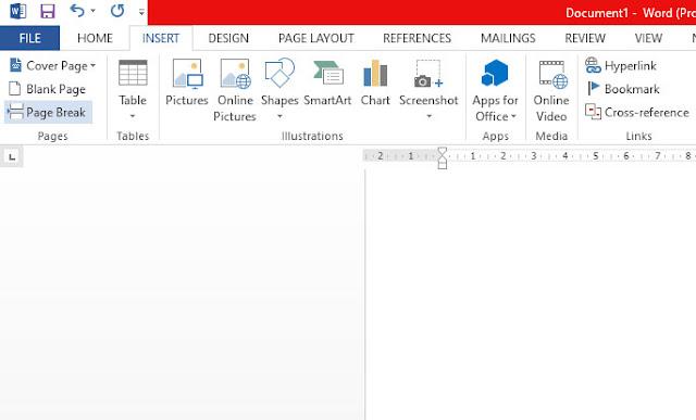 Cara Menambah Lembar Kerja Baru atau Halaman Baru di Microsoft Word