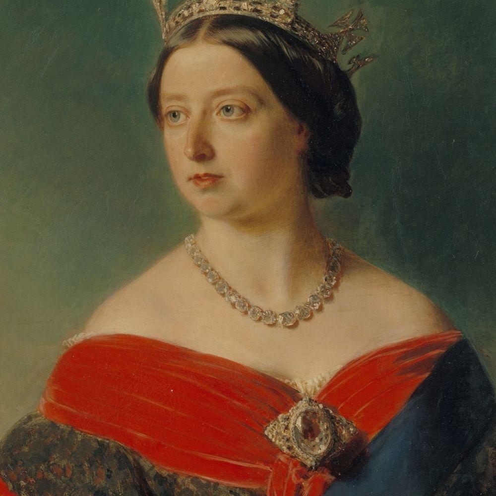 Queen Victoria wearing the Koh-i-Noor diamond