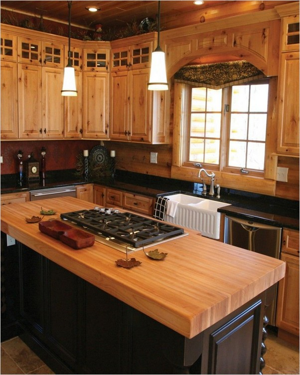 Knotty Pine Kitchen Cabinets Home Interior Exterior Decor Design Ideas