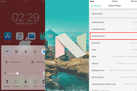 Oppo F3 Nougat Update