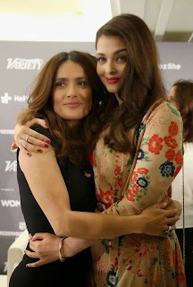 Salma Hayek and Aishwarya Rai at the 2015 Cannes Film Festival
