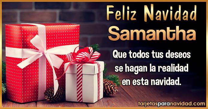 Feliz Navidad Samantha