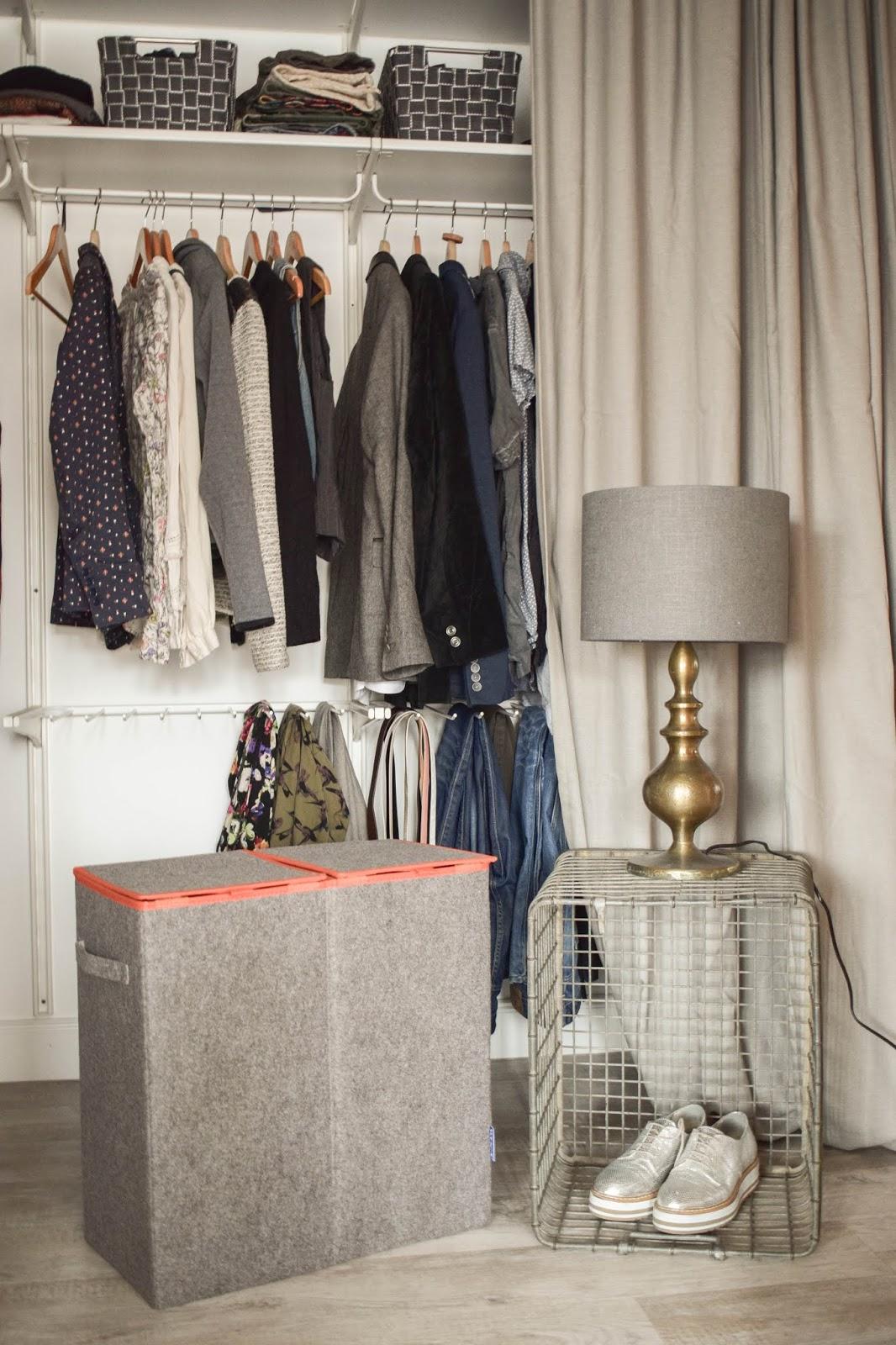 Aufbewahrung mit Wenko Wäsche praktisch verstaut Kleiderschrank Wäschesammler
