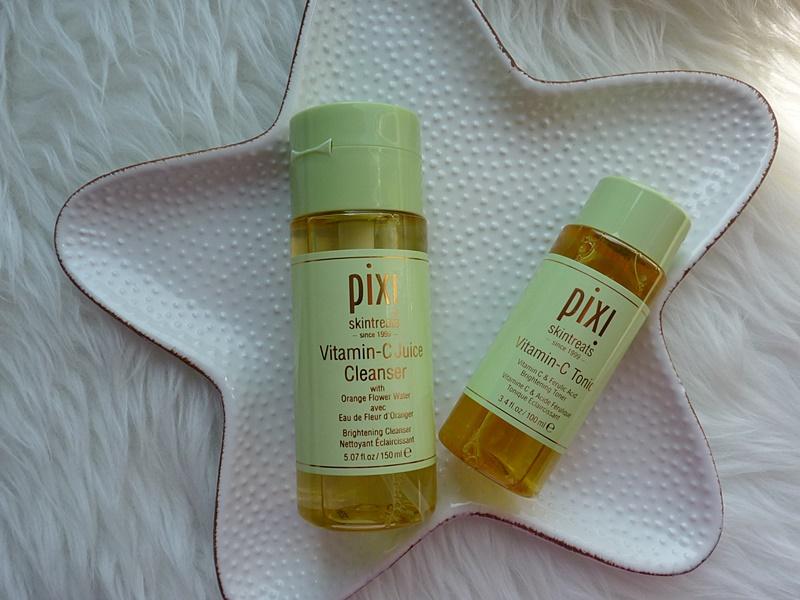 PIXI Vitamin C Juice Cleanser Woda myjąca i Vitamin C Tonic Tonik rozjaśniający