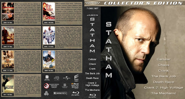 Jason Statham Collection [Large Spine] Bluray Cover
