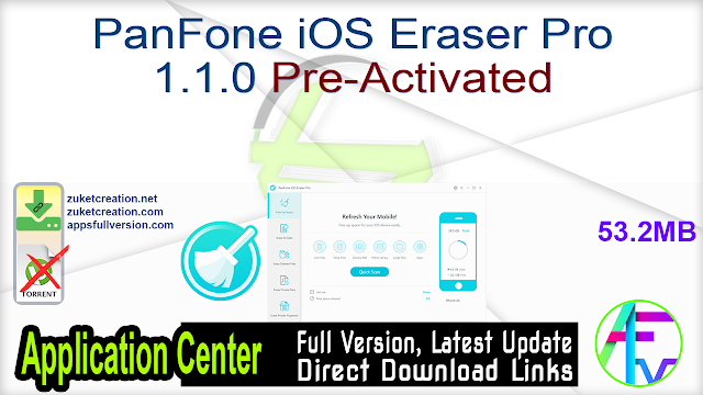 PanFone iOS Eraser Pro 1.1.0 Pre-Activated