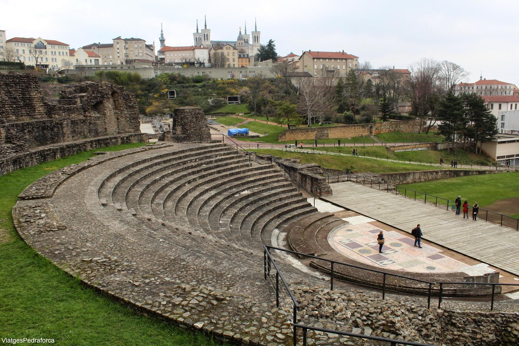 Lyon, Fourvière, Teatre romà, Odeó romà, Notre-Dame de Fourvière, Lió, Rône-Alpes, França, France