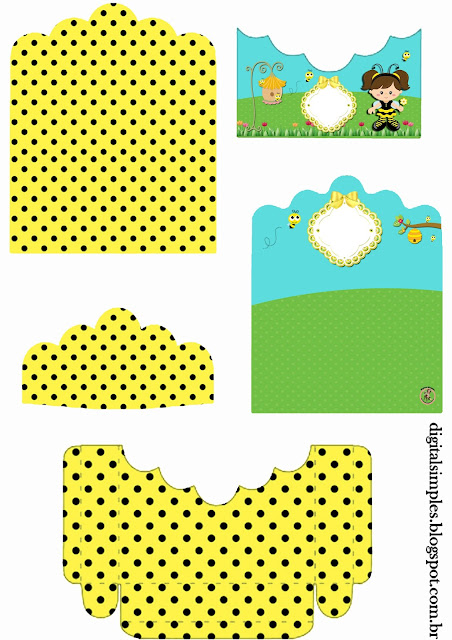 Baby Dressed as Bee: Free Printable Candy Wrappers .