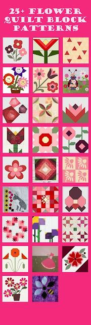Flower themed quilt blocks
