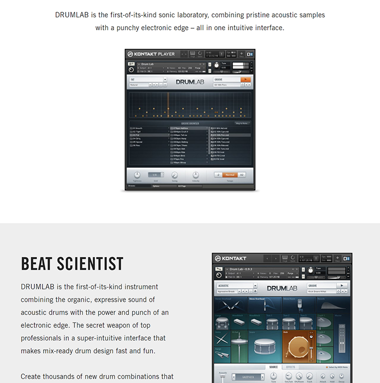 NATIVE INSTRUMENTS - Drumlab [KONTAKT LIBRARY] [2 5 GB