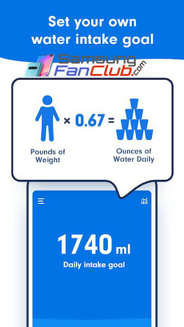 Download Drink Water tracker: Water Reminder Alarm App for Samsung Galaxy S10 Plus