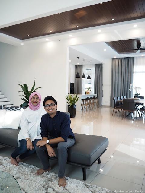 Semi-D living room design by Meridian Interior Design, Kuala Lumpur.